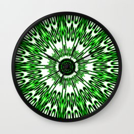 Green White Black Explosion Wall Clock