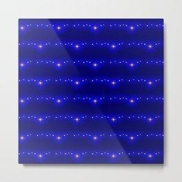 Blue Starlight Magic Glow, Christmas and Holiday Fantasy Collection Metal Print