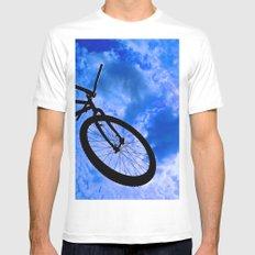 Sky Bike White MEDIUM Mens Fitted Tee