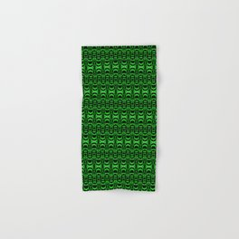 Dividers 07 in Green over Black Hand & Bath Towel