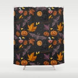 October pattern Shower Curtain
