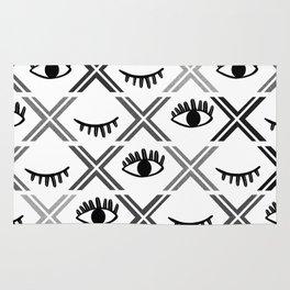Original Black and White Eyes Design Rug