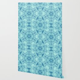 Bubbling to the surface in baby blue Wallpaper