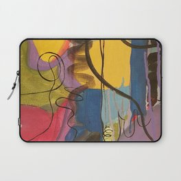 Crazy Mad World Multi Colored Abstract Laptop Sleeve