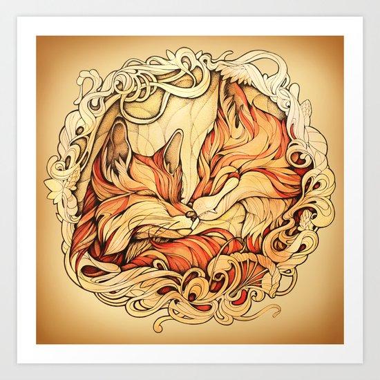 Foxes II Art Print