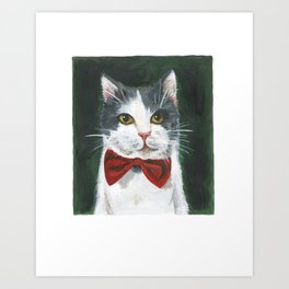 Leonard the cat Art Print