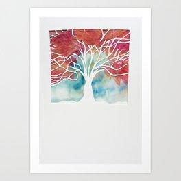 Cortez Negro Tree Art Print