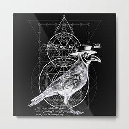 The Raven dark Metal Print