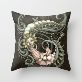 Pearly Dew Drops Throw Pillow
