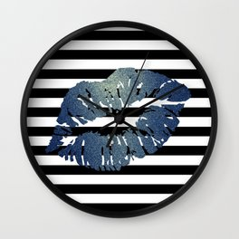 Stripes and Water Kiss Wall Clock