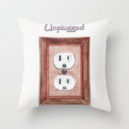 Unplugged Throw Pillow