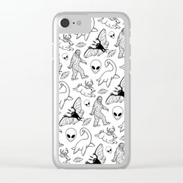Cryptid Pattern: Ink Lines Clear iPhone Case