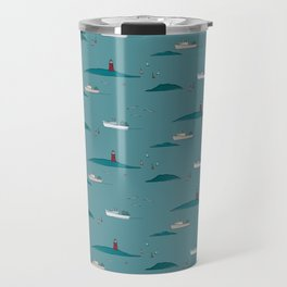 Lobstering in the Harbor Travel Mug