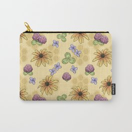 Flowers and Honeycomb Carry-All Pouch