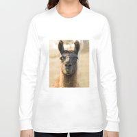 llama Long Sleeve T-shirts featuring LLAMA by Kai Bee