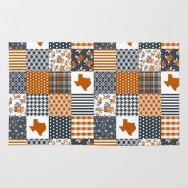 Texas longhorns university quilt pattern gifts sports fan varsity football fan Rug