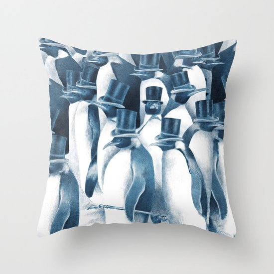 A Gathering of Gentlemen (square format) Throw Pillow