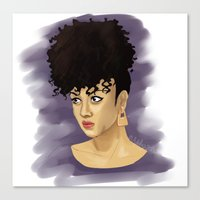 afro Canvas Prints featuring Afro by Adelys