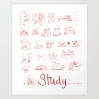 study Art Prints featuring Study... by David Nuh Omar