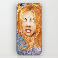 bad wolf iPhone & iPod Skins featuring Bad Wolf by Mountain Laurel Arts