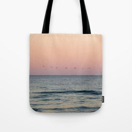 Pelicans at Sunset Tote Bag