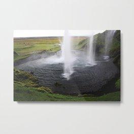Seljalandsfoss Waterfall in Iceland Metal Print