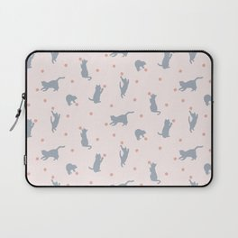 Polka Dot Cats Laptop Sleeve