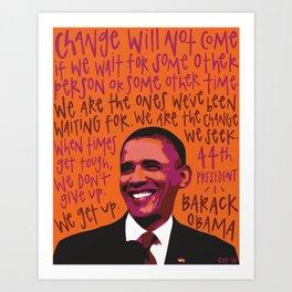 Barack Obama. Art Print