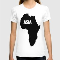 asia T-shirts featuring ASIA by AnacondaOnline.eu