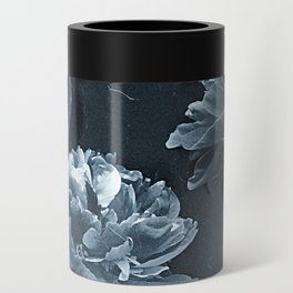 Blue Peonies Can Cooler