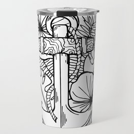 Hawaiian Anchor Illustration Travel Mug