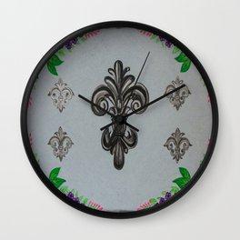 Fluer de lis (cool) Wall Clock