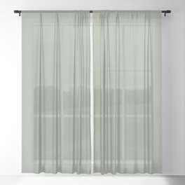 Sage x Simple Color Sheer Curtain