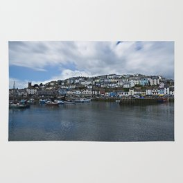 Brixham The Colourful Harbour Rug