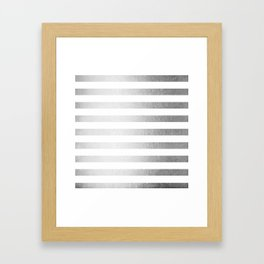 Simply Striped Moonlight Silver Framed Art Print