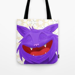 Anselmo the fat violet cat Tote Bag
