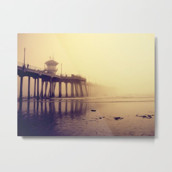 Huntington Beach Pier Metal Print