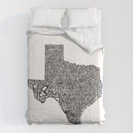 Typographic Texas Comforters