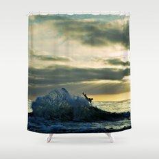 Wave Goodbye Shower Curtain