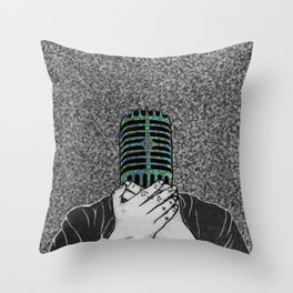 StaticSpeaking Throw Pillow