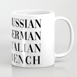 wear italian kiss french Coffee Mug