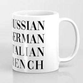 wear italian kiss french Coffee Mug