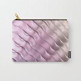 Pink Satin Ripple Carry-All Pouch