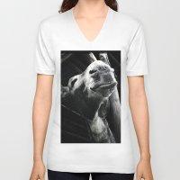 donkey V-neck T-shirts featuring donkey by chicco montanari