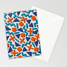90s Retro Memphis Pattern Stationery Cards