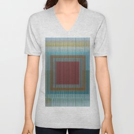 Abstract Composition 643 Unisex V-Neck