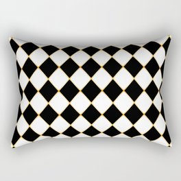 Chess board with golden threads Rectangular Pillow