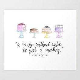 Cake Party Art Print