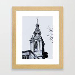 St. Mary-Le-Bow Church, London Framed Art Print
