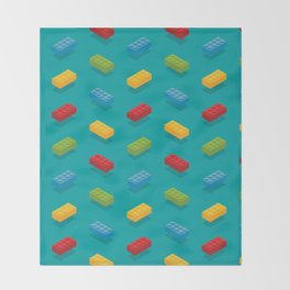 Blocks Throw Blanket